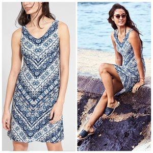 Athleta Santorini Sleeveless Print Dress Medium